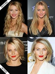 before and after picuters of long to short hair julianne hough long to short hair before after hair