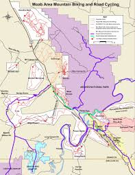 Utah Map National Parks by Moab Mountain Biking Trails Moab Mountain Bike Trail Information