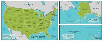 alaska major cities map a map of america with all state names state capitals and other