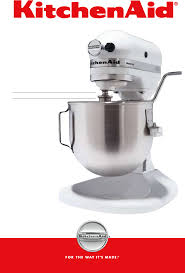 Kitchen Aide Mixer by Kitchenaid Mixer Ksm8990wh User Guide Manualsonline Com