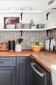 decorative backsplashes kitchens grey arabesque shape mosaic tile backsplash against white cabinets