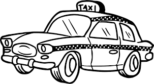 cute taxi driver car coloring page wecoloringpage