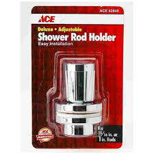 ace hardware shower rod holder in chrome 70 501a shower rods