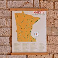 Mn State Parks Map Minnesota State Parks Map Art Print U2013 Sweetpea And Co