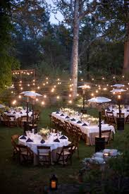 outdoor lighting for a party sacharoff decoration