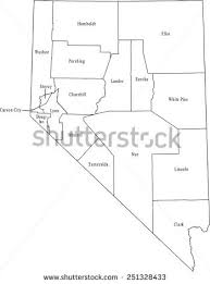 nevada counties map nevada county stock images royalty free images vectors