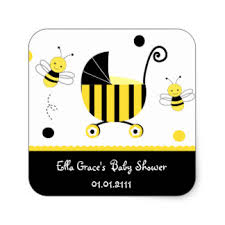 bumblebee baby shower bumble bee baby shower stickers zazzle