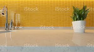 modern kitchen design yellow yellow ceramic modern kitchen design stock photo image now
