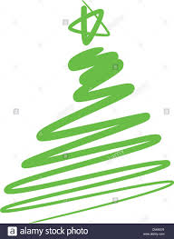abstract christmas tree simple drawing stock vector art