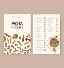 dining menu template italian restaurant menu design template vector image