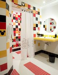 colorful kids bathroom paint ideas with modern style also cone
