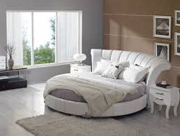 bedroom luxury bedroom with round cream tufted bed and cream
