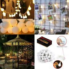 battery powered hanging l battery party hanging icicle string fairy lights ebay