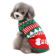 Christmas Theme Pet Sweater Dog Cat Warm Knit Crochet Pullover