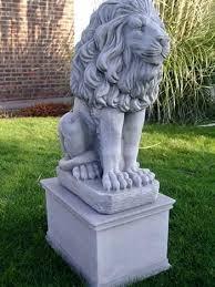 lions statues lion garden ornaments garden pair of large lion pillar cap