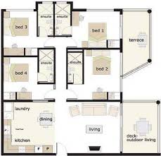 Four Bedroom House Floor Plans by 4 Bedroom House Designs Floor Plans 4 Bedrooms House Design 4