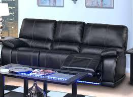 Full Living Room Set Black Modern Leather Sofa New Classic Electra Mesa Power Reclining