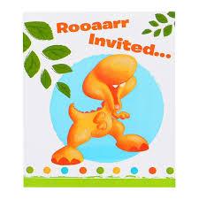 little dino 1st birthday invitations birthdayexpress com