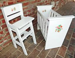 Wooden Doll High Chair Ana White Olivia U0027s Doll Crib And High Chair Sets Diy Projects
