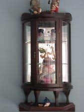 Curio Cabinet Asheville Nc Curved Glass China Cabinet Ebay