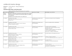 Interior Finish Schedule Template Commercial Interior Design - Bedroom design template