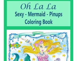 pinup coloring book etsy