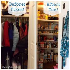 creating an organized pantry from a hall closet pantry spaces