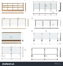Floor Plan Front View by Set Railing Fences Front View Top Stock Illustration 569123647