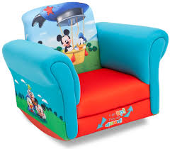 mickey mouse chair covers disney upholstered child s mickey mouse rocking chair
