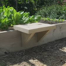 diy raised bed seat vegetable gardener
