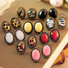 fancy earing new fashion jewelry leopard stud earrings ear stud gift