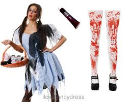 zombie dorothy costume halloween dead fairytale fancy dress