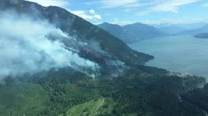 Bc Wildfire Drone by Harrison Springs Fire Continues To Burn News 1130