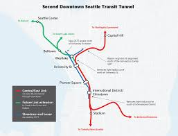 Link Light Rail Map Seattle U2013 Transport Review