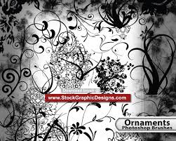 ornament free photoshop brush pack vector photoshop brushes