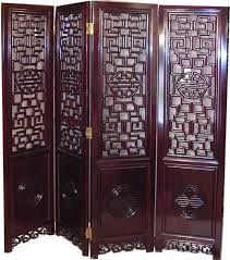 chinese room divider long life carved rosewood folding panels