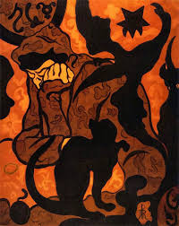 paul ranson the witch with black cat 1893 painting pinterest