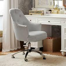 linen desk chair twill tufted desk chair pbteen