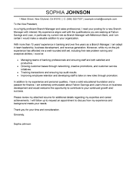 Business Thank You Letters To Customers by Best Branch Manager Cover Letter Examples Livecareer