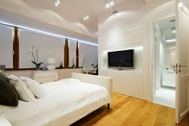 Bedroom Design Bed Placement Practical And Minimalist Look Of Wall Mounting Television Ideas In