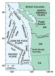 physical map of oregon juan de fuca plate geology of the coos estuary and lower coos watershed partnership