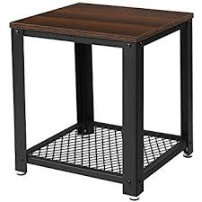table l amazon com songmics 2 tiered end table square frame side table