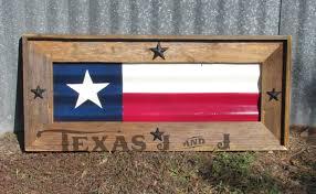 Texas Flag Chile Flag Texas Flag Framed Rustic Texas Tin Flag Texas Proud Long