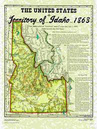 Map Of Montana And Idaho by United States Territories