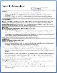 Administrative Resume Example by Systems Administrator Job Description Resume