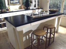kitchen island with prep sink curved pull down chrome sink faucets