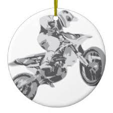 motocross ornaments keepsake ornaments zazzle