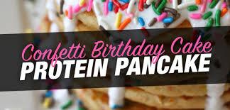 confetti birthday cake protein pancake fitness magazine