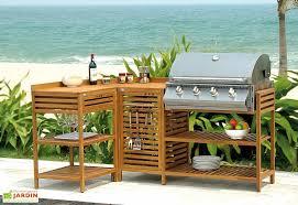 cuisine exterieure cuisine d extérieure en bois lea barbecue gaz inox 4 feux