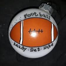 engraved football gifts football ornament personalized for christmas decor for the